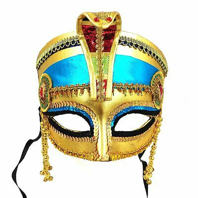 Egyptian Cleopatra Mask Headpiece Crown Pharaoh Ancient Queen Masquerade Party