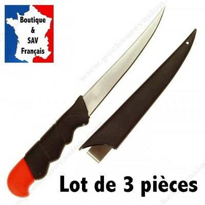 Lot De 3 Couteaux A Filet