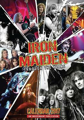 Iron Maiden 2017 Large Poster Wall Calendar New & Sealed Free Uk Postage !!