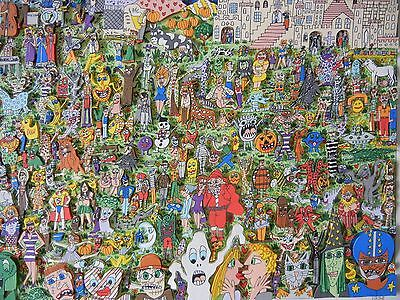 """James Rizzi  """"WE ALL HAVE SOMETHING TO OFFER """" 1998 3D Handsigniert 145/250 XL"""