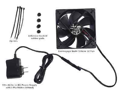 Coolerguys Quiet 120mm AC Powered Receiver/Component Cooling Fan