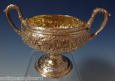 J. E. Caldwell Sterling Silver Sugar Bowl with Ornate Pattern (#1058)