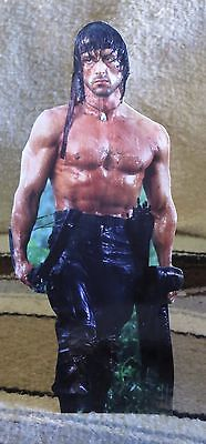 """Sylvester Stallone """"Rambo"""" Movie Tabletop Display Standee 10 1/2"""" Tall"""