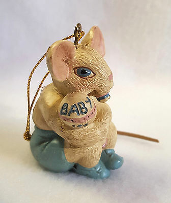 Kurt Adler Christmas Ornament Mouse Hole in the Wall Gang Babys 1st W1454