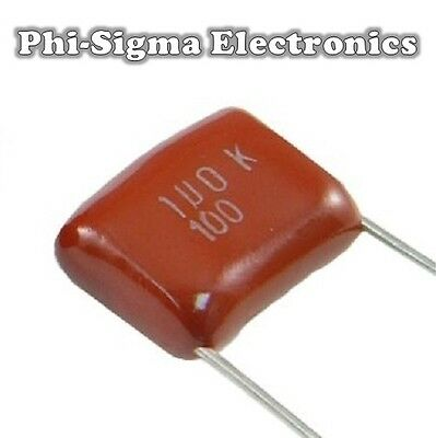 Polyester Film Capacitors (Packs of 10) - Various Values / Various Voltages