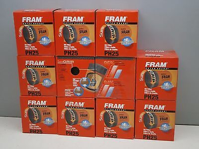 Lot of (11) Fram PH25 Spin-on Engine Oil Filters