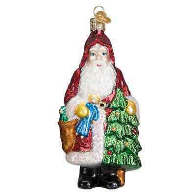 """Woodland Father Christmas"" (40290) Old World Christmas Glass Ornament"