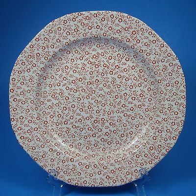 Burgess & Leigh Burleigh FELICITY PINK Salad Plate (s) Staffordshire England Red