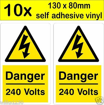 DANGER ELECTRICITY VOLT HEALTH AND SAFETY WARNING STICKER LATEX PRINTED WARN102