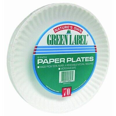 Nature's Own Green Label Paper Plates,No PP9GRAXWH,  A J M Packaging Corp