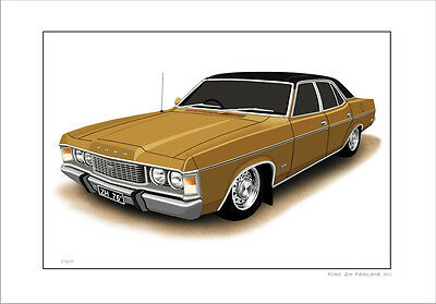 Ford  76' 77'  Zh  Fairlane  500  351  V8   Limited Edition  Car Print