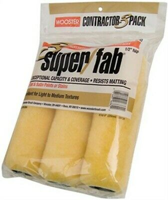 3-Pack Super/Fab Knitted Roller Cover,No R740-9,  Wooster Brush