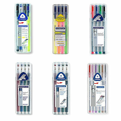 Staedtler Triplus Fineliner, Ball Point Pen, Highlighter, Mobile Office Set