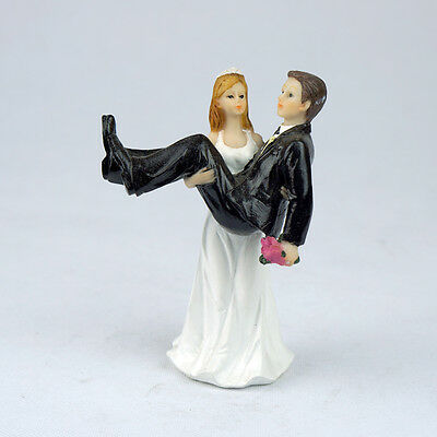 """""""To Have and to Hold"""" Bride holding Groom  Figurine  Wedding Cake Toppers Lover"""