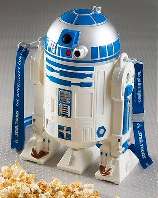 STAR WARS TOKYO Disneyland LE R2-D2 Popcorn Bucket with Strap STAR TOURS MT/NWT