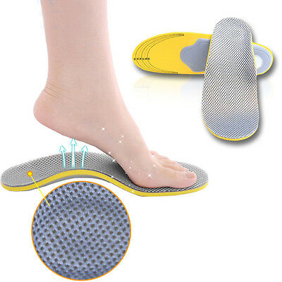 1 Pair Soft Arch Foot Orthotics Shoe Insoles Pad High Elasticity Inner Sole Pad