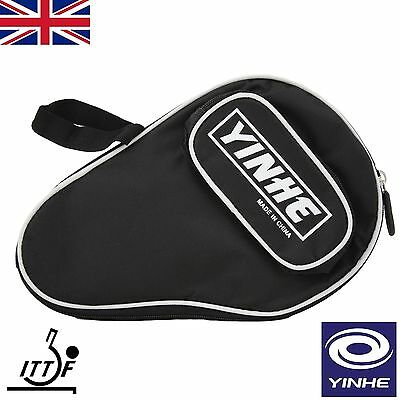 Yinhe Table Tennis Bat Soft Padded Zip Case protect your ping pong racket  BLACK