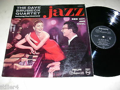 THE DAVE BRUBECK QUARTET Jazz Red Hot And Cool *PHILIPS VINYL 1st PRESS MONO LP*