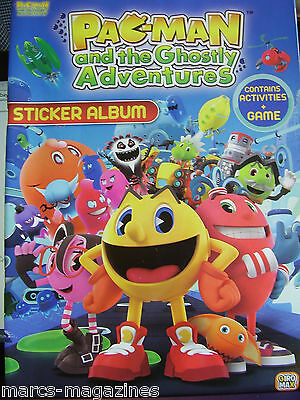 Rare Pac Man And The Ghostly Adventures Sticker Album Book Unused & Stickers