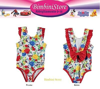 Costume mare piscina neonata hello kitty originale rose