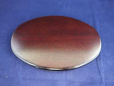 Small Oval Wooden Display Base.