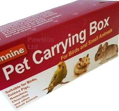 PET CARRYING BOX - Bird Animal Carry Case Small Large Cardboard Hamster Mice Rat