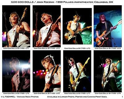 Goo Goo Dolls, Photos 4x6 inch Set of 72 Prints 1999 Columbus OH Live Concert L1