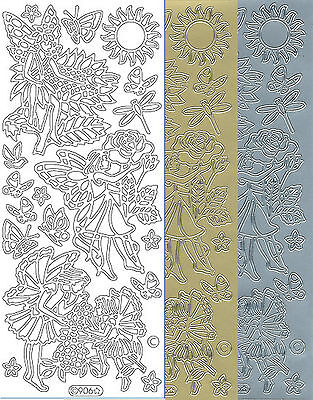 Starform Outline Stickers 7008 Fleurs Flowers Auto-collants Peel offs