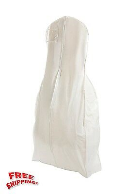 Brand New X Large White Bridal Wedding Gown Dress Garment Bag Center Zipper Best