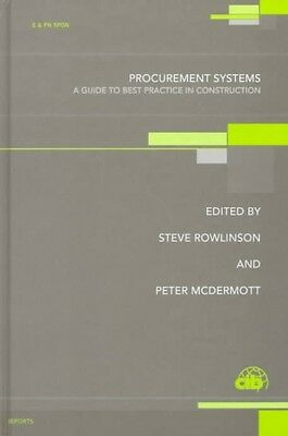 Procurement Systems in Construction by S. Rowlinson Hardcover Book