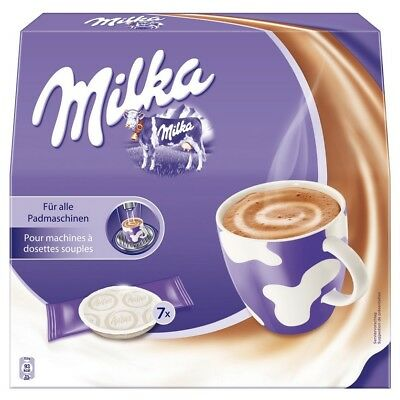 MILKA - HOT CHOCOLATE - 7 Pads for all padmachines - Send from Germany