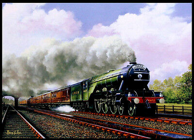 A3 Size - FLYING SCOTSMAN STEAM OLD TRAIN RAILWAY  WALL DECOR ART PRINT POSTER