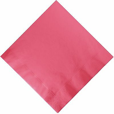 50 Plain Solid Colors Luncheon Dinner Napkins Paper - Coral