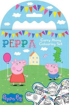 Peppa Pig Carry Along Colouring Set Including Crayons Great Gift Idea Party Bags