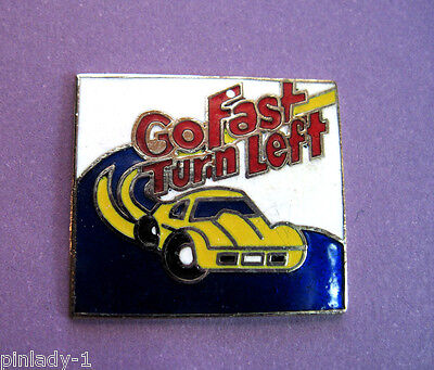 GO  FAST  TURN  LEFT - hat pin , lapel pin , tie tac , hatpin GIFT BOXED