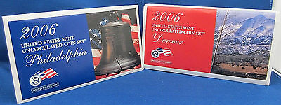 2006 Sealed U.s. Mint Uncirculated Coin Sets In Original Sealed Unopened Box