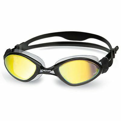 Head Tiger Liquidskin Swim Goggle - Smoke Mirrored Lens - Clear/Black