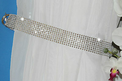 New Price!!!   2x Diamante Crystal Tie Backs -  Curtains & Voiles 75 cm