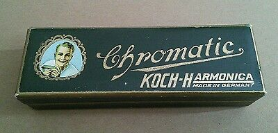 Vintage Koch Harmonica Chromatic 980/40 M in C - pink lined box