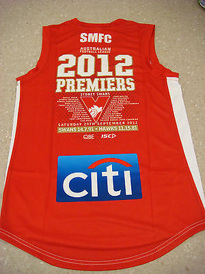 Sydney Swans 2012 Premiers Limited Edition MEDIUM AFL Jumper BRAND NEW GOODES