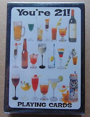 You're 21 Playing cards alcohol drinks sealed deck MIB BIG FUN playing cards