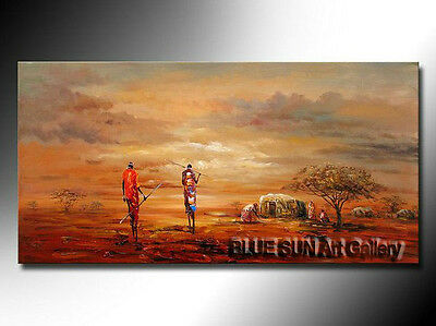 Large Modern Abstract Oil Painting Canvas Contemporary Wall Art African scenery