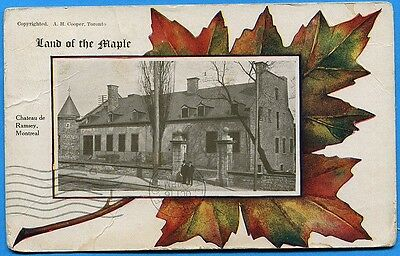 CPA Canada: Land of the Maple - Chateau de Ramsey, Montreal / 1909