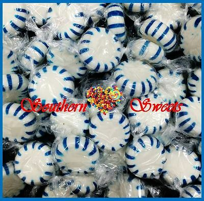 Blue & White Lollies Candy Starlite Pinwheels 1Kg 165Ct Starlights Blueberry