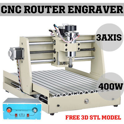 400W 3 Axis 3040 CNC Router Engraver Milling Machine Engraving Drilling Desktop/