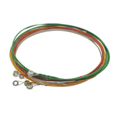 Replacement Set of 6pcs Colorful Electric Guitar String E-B-G-D-A-E Strings