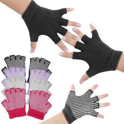 Cotton Weight Lifting Yoga Pilates Gym Training Workout Fingerless Grip Gloves