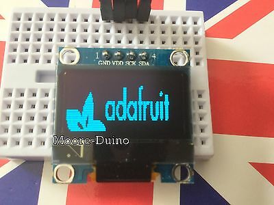"Blue 128X64 OLED LCD LED Display Module For Arduino 0.96"" I2C IIC Serial UK New"