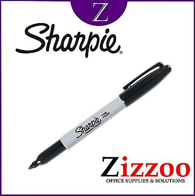 Sharpie Black Marker Pen - Single - Permanent Fine Point - The Iconic Marker!