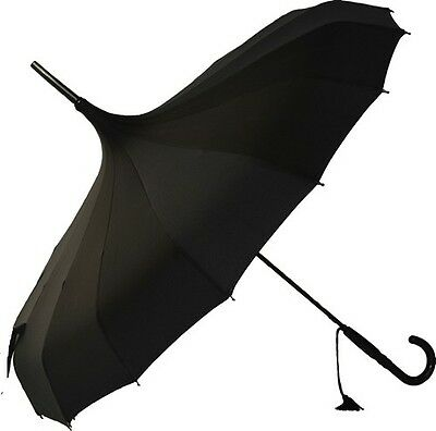 Soake Stunning Classic Plain Pagoda Style Long Walking Umbrellas